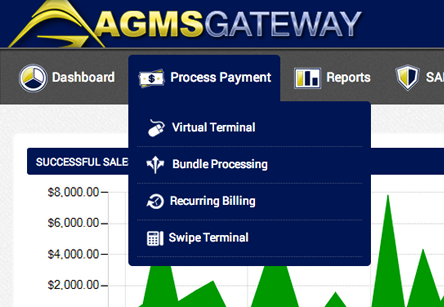 AGMS Gateway Virtual Terminal Dashboard