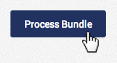 click process bundle to process the uploaded AGMS Gateway batch bundle