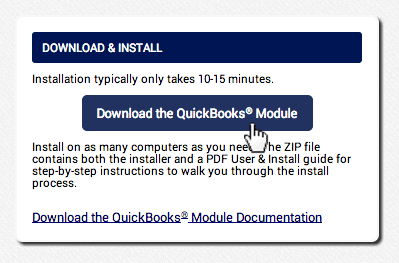 Click download the AGMS Gateway QuickBooks® Plugin