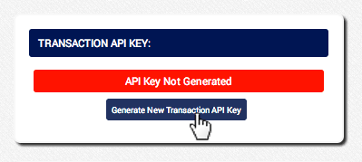 Click Generate New Transaction API Key